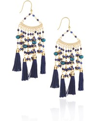 Rosantica Blue Beaded Kilimangiaro Earrings