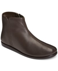 Aerosoles Willingly Booties Women's Shoes Dark Brown Leather