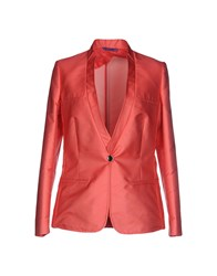 Blue Les Copains Suits And Jackets Blazers Women Coral