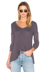 Velvet By Graham And Spencer Alanis Sweater Grey