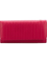 Zanellato Embossed Continental Wallet Pink And Purple
