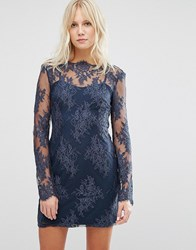 Style Stalker Stylestalker Katara Long Sleeve Dress Navy