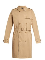A.P.C. Vavin Water Resistant Cotton Trench Coat Beige