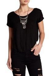 Young Fabulous And Broke Wing Linen Tee Black