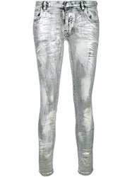 Faith Connexion Coated Metallic Jeans