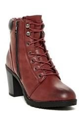 Modern Rebel Roonies Lace Up Boot Red