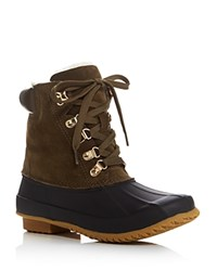 Joie Delyth Lace Up Rain Booties Deep Olive Ivory
