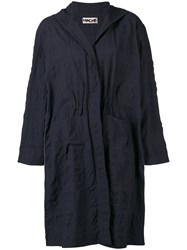 Hache Single Breasted Coat Blue