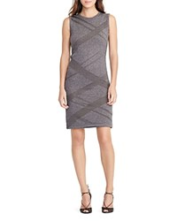Ralph Lauren Geometric Sweater Dress Platinum Heather