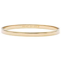 Kate Spade New York Gold Plated Heart Of Gold Bangle Gold