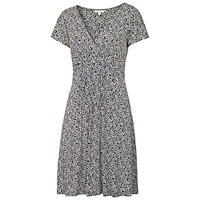 Fat Face Camille Floral Forest Dress Navy