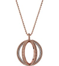 Links Of London Effervescence Globe 18Ct Rose Gold And Diamond Necklace