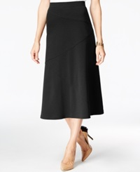 Jm Collection Petite Diagonal Seam A Line Skirt Only At Macy's