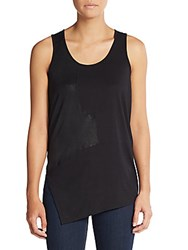 Tess Giberson Pieced Foil Tank Black Multi