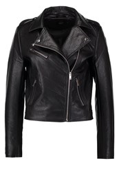 Only Onllou Faux Leather Jacket Black