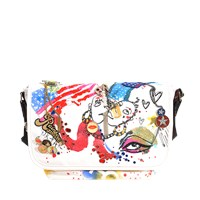 Marc Jacobs Collage Printed Canvas Messenger