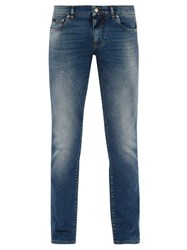 Dolce And Gabbana Light Wash Skinny Jeans Blue