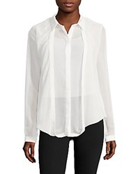 C Meo Collective One Way Out Point Collar Button Down Shirt White