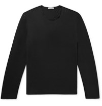 James Perse Cotton And Cashmere Blend T Shirt Black