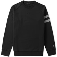 Lanvin Distressed Grosgrain Crew Sweat Black