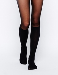 Gipsy Mock Knee High Tights Black