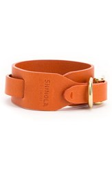 Women's Shinola Double Wrap Leather Bracelet Bold Orange