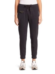 Brunello Cucinelli Stretch Cotton Spa Sweatpants Anthracite