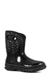 Bogs Classic Mid Badge Waterproof Snow Boot Black Multi
