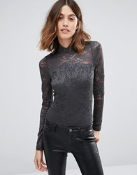 Vero Moda Lace Body Asphalt Grey