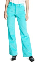 Marc Jacobs The Corduroy Flared Jeans Turqouise