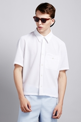 Opening Ceremony Spot Stretch Pique Boxy Pool Shirt White