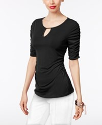 Thalia Sodi Ruched Hardware Top Only At Macy's Deep Black