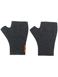 Barena Fingerless Gloves Grey