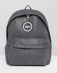 Hype Charcoal Wool Backpack Charcoal Woo Grey