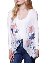 Yumi Waterfall Floral Cardigan Ivory
