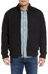 Schott Nyc Men's Zip Front Faux Sherpa Lined Sweater Jacket