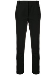 Joseph Skinny Leg Side Zip Trousers Black