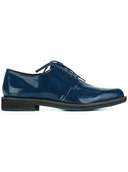 Jil Sander Navy Pointed Toe Lace Up Shoes Blue
