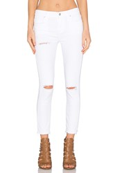 A Gold E Sophie High Rise Crop Skinny Off Spring Distressed