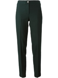 Tory Burch Cropped Tailored Trousers Green