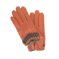 Thomasine Gloves Milan Glove Twisted Wrist Deco Brick Yellow Orange