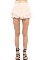 Etoile Isabel Marant Janis Light Viscose Skort White