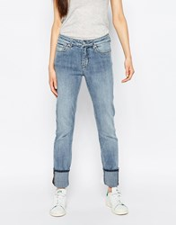 Weekday Tuesday Mid Rise Slim Leg Jeans Blue Beat