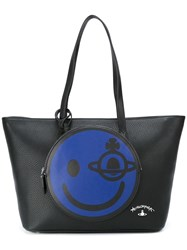 Vivienne Westwood Anglomania Smile Compartment Tote Black