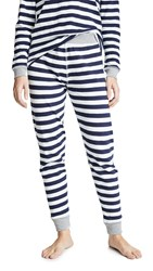 Sleepy Jones Helen Leggings Medium Stripe Navy