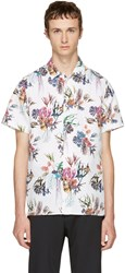 Paul Smith Ps By White Floral Shirt