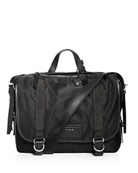 John Varvatos Star Usa Nylon Messenger Bag Black