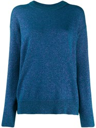 Indress Long Sleeve Knit Jumper Blue