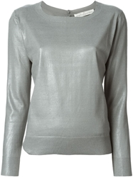 Golden Goose Deluxe Brand Back Button Fastening Sweater Grey