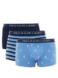 Polo Ralph Lauren Pack Of Three Stretch Cotton Boxer Briefs Blue Multi